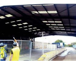 100 ft x 60 ft x 19 ft Used Steel Building