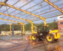 100 ft x 100 ft x 21 ft used steel building