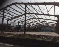 180 ft x 54 ft x 15 ft - (54.9m x 16.5m x 4.6m) Used Steel Building