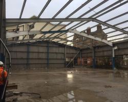 200 ft x 67 ft x 20 ft - Used Steel Framed Building For Sale