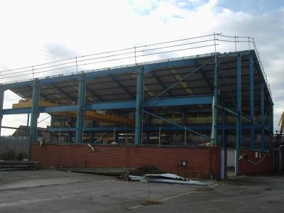 Used Crane Building 140 ft x 80 ft x 30 ft