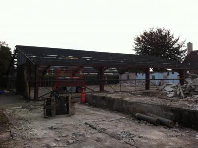 80 ft x 67 ft x 10 ft used steel building