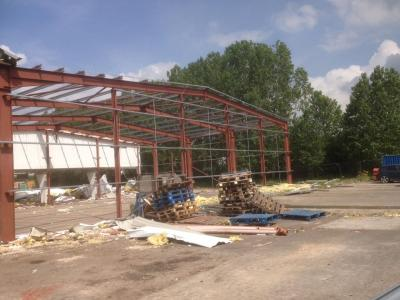 80 ft x 100 ft x 24 ft - Used Steel Building