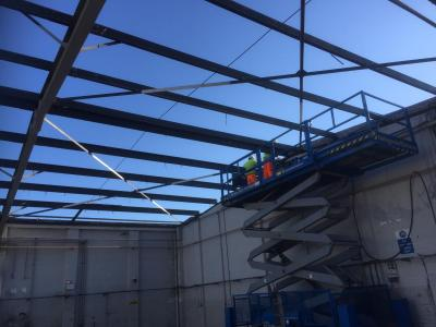 140 ft x 60 ft x 15 ft Used Steel Building