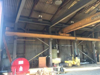 60 ft x 50 ft x 15 ft used steel building - foldaway