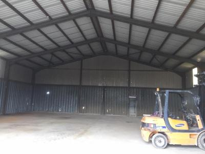60 ft x 54 ft x 18 ft - (18.3m x 16.5m x 5.5m) Used Steel Building