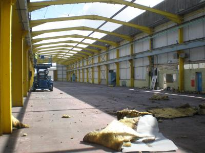 200 ft x 50 ft used steel building